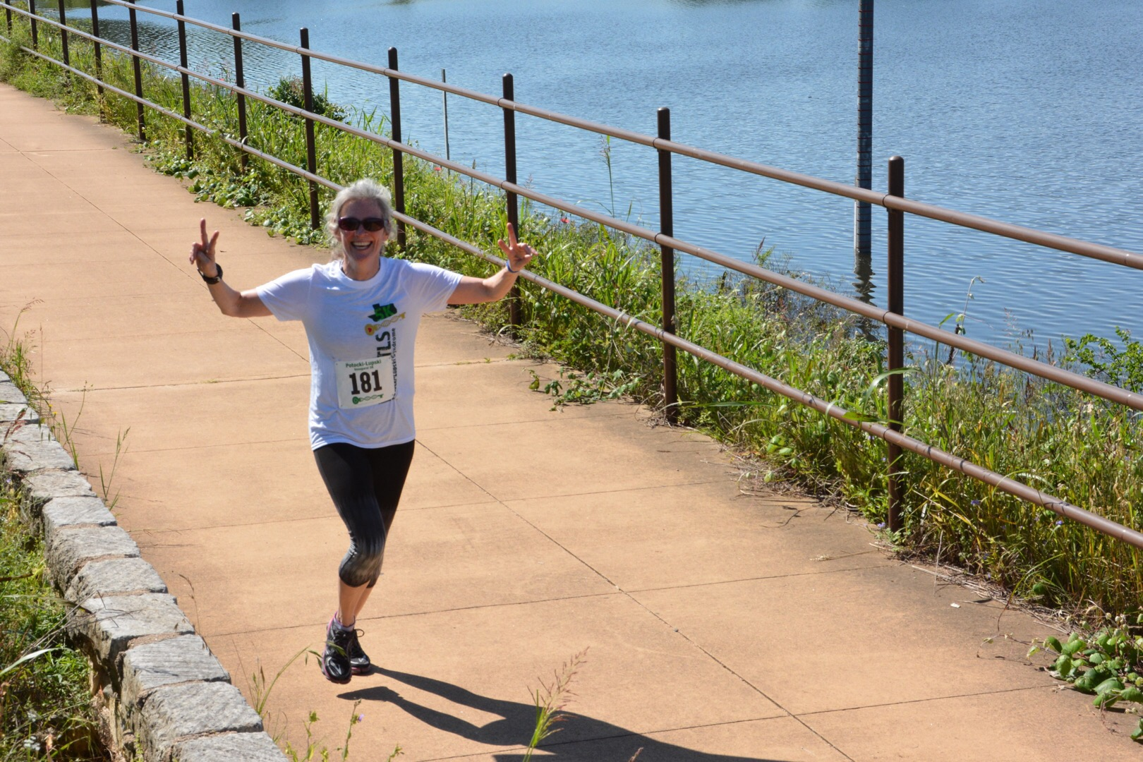 Dr Potoki running a 5k